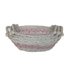 Dekorasyon beyaz söğüt hediye sepetleri/gıda saklama sepetleri/3 set