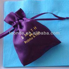 High quality custom-made fashion satin drawstring bags