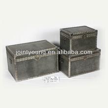 antique metal storage trunks