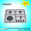 Clásico hs4503e1 encimera de acero inoxidable de gas 3 + 1 placa caliente estufa