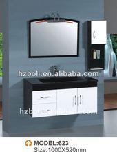 modern lacquer vanity units, glossy bath cabinet, high quality vanity units (623)