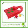 hot style customized nylon rose foldable shopping bag