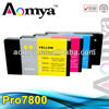 Factory direct sale compatible ink cartridge for epson 7800 9800 with ink and chip