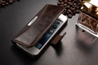 Luxury Vintage Style Leather Wallet Case Cover For iPhone 5 5S with Stand