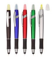 3 in 1 highlighter+ball pen+stylus touch pen