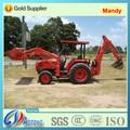 Caliente mini 4wd agrícola/granja jardín tractor con cargador frontal y retroexcavadora