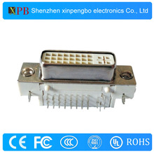 Metal Solder Type 24+5 D-SUB Right Angle Connector