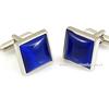 2014 men blue enamel silver cufflink