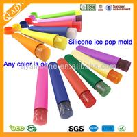 BPA Free Good Grade Customer Silicone Ice Pop Molds Maker Set