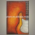 atacado moderno abstrato colorido instrumentos musicais pintura de guitarra