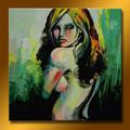 Main gros africaine femme nue peinture à l'huile