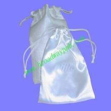 gifts pack printed small satin drawstring bags