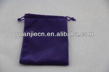 Popular hot sale round bottom velvet bags