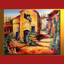 Gold art of Handmade Famous landscape paintings art