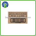 stampa impermeabile materiale laminato autoadesivo kraft carta stampa di etichette autoadesivo