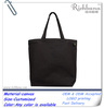 Eco friendly black canvas wholesale tote bags