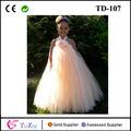 Blumenmädchen tutu dress, Pfirsich und Melone Melodie lange kleider für kinder