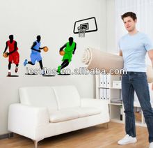New hot sale removable sport basketball wall stickers boys room
