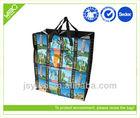 Newest pp woven reusable zipper shopping bag