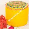Bohemian Suzani Pouf Ottoman, Vintage Indian Pouf, pouffe, pouffes, Foot Stool, Round Pouf Ottoman, Bean Bag, Floor Pillow Ot