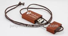 custom necklace wood usb pendrive