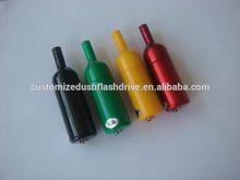 bulk cheap plastic usb wine bottle shaped / wine bottle 2gb usb flash drive custom logo