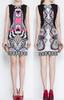 2014 brand fashion designer one piece dress elegant ladies print summer dress celebrity ladies evening dress with sleeveless