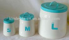 3 size large,medium,small assorted bread bin tea coffee sugar set storage jar
