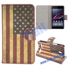Flag Retro Phone Case for HTC E1 Dual Sim 603e Mobile
