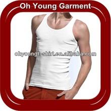 Fashion Male100% Cotton Jersey Blank Tank Top , Wholesale Cheap Factory Price Plain Vest for men