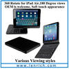 LBK194 design your own for ipad case,for ipad keyboard case,bluetooth keyboard for ipad air 5 with touch pen