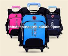 Waterpoof kids backpacks children rolling school bag