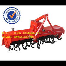 stubble rotary tiller for farm tractor with tiller attachment