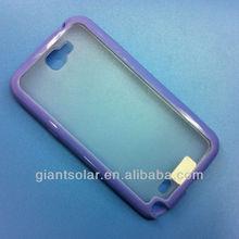 PC (scrub) +TPU frame case purple color for samsung GALAXY Note II n7100