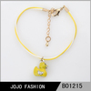 Promotional gifts,2014 hot china products wholesale yellow duck charms bracelet promotional gifts