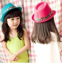 C81221A 2014 children han edition wool beret girls baby leopard hat little hat