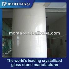 supre white crystal glass exterior decorative columns
