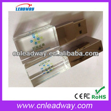 Professional private mould crystal usb flash drive 3d logo engraved in