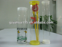 pvc/pet transparent empty plastic tube for gifts packing