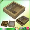 Kraft paper drawer box with window sliding box with clear window
