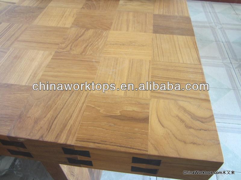 rustique teck plan de travail bois plan de travail bois massif plans de travail teck butcher