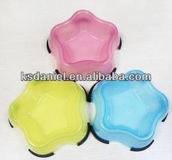 Summer Plastic Pet Bowl Cut Star Shape Small Puppy Bowls Pet Bowls & Feeders,13cm