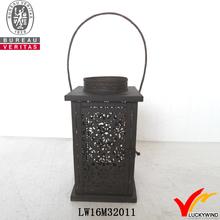 halloween wrought iron metal candle lantern decorate