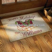 custom print white rubber floor mat