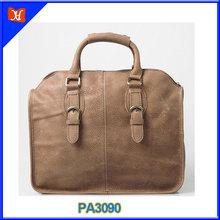 Wholesale leather men handbags design popular hard leather handbag