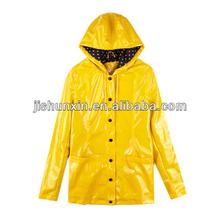 High Quality Customizing hood yellow pvc Raincoat