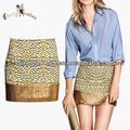 2014 personalizado moda feminina Glamorous lantejoulas Mini saias