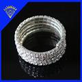 la moda de joyería de plata de la galjanoplastia de diamantes de imitación pulsera de estiramiento