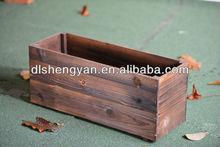 Big wooden design garden flower pot&planter box&flower box wholesale