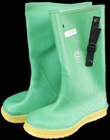 """HAZMAX 17"""" Size 12 Chemical Strapper Rubber PVC Overboot Boots Z41-PT99"""